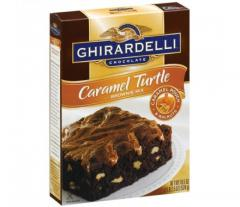 Ghirardelli Caramel Turtle Brownie Mix