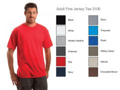 Adult Fine Jersey Tee 3100