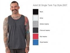 Adult 30 Single Tank Top Style 2007
