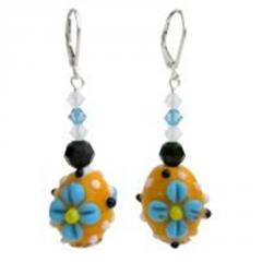 Lampwork beads & Swarovski crystals