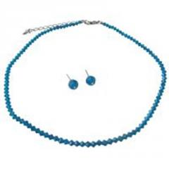 Jewelry cheap sapphire crystals necklace &