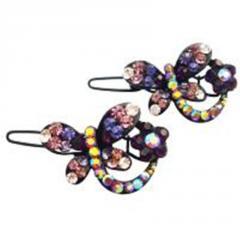 Amethyst crystals hair accessories