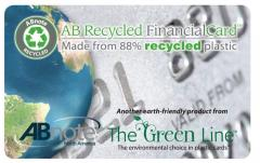 Recycled Financial Card