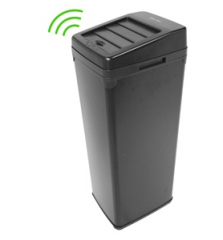 Automatic Hands Free Black Steel Kitchen Trash Can