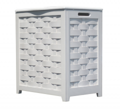 White Finished Laundry Hamper