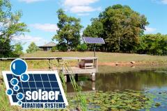 Solaer® Lake Bed Aeration Systems