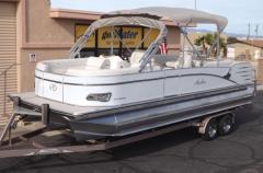 2013 Catalina Quad Lounger 24' Triple Tube, Lifting Strakes, Double Bimini, Mercury 150 hp