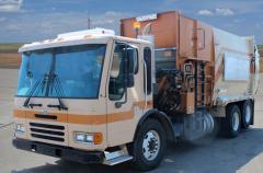 2005 Sterling Side Loader Garbage Truck