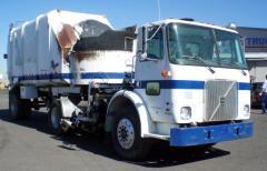 1998 Volvo Side Loader Garbage Truck