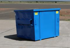 Nestable Flat Top Front Load Container