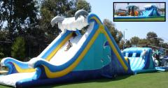 Surf Wagon Super Mega Obstacle Course Inflatable