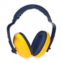 Adjustable Headband Yellow Ear Muff