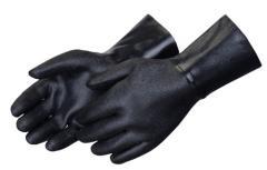 """12"""" Rough Finish Black Neoprene Gloves"""