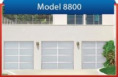 Full-view model 8800 garage doors
