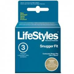 LifeStyles Snugger Fit Latex Condoms 3-pack