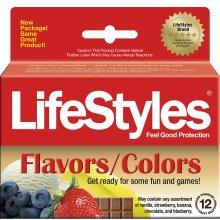 Lifestyles Flavors/Colors Assorted Condoms-12 pack