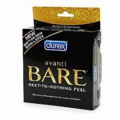 Durex Avanti Bare Non-Latex Condoms 3-pack
