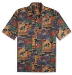 Tori Richard Marquises Hawaiian Aloha Shirt (Blue)