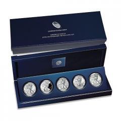 2011 American Silver Eagle 25th Anniversary 5-Coin