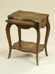 Aged Regency Finished Primavera Veneer End Table