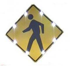 """AC Powered 24"""" Pedestrian Sign"""