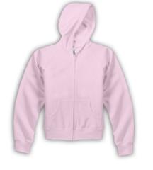Pink Ladies Full Zip Hooded Sweatshirt
