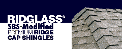 Ridglass® SBS-Modified Premium Ridge Cap Shingles