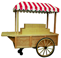 General Merchandise Cart with Tiered Display, #