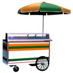Salad, Sandwich, and Cold Beverage Cart, # 104