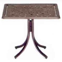 """36"""" Square Bar Height Table with Umbrella"""