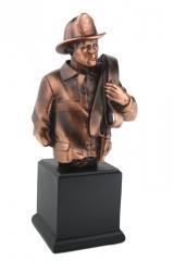 Brave Firefighter Bronze Statue 07123