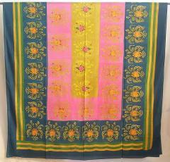 Lisa Corti Tablecloth 180x350cm - Brocade Blue -