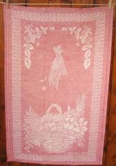 Tessitura Pardi Kitchen Towel - Cesto Burgundy