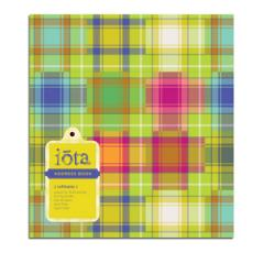 Refillable Address Book Madras Tartan IA1-9091