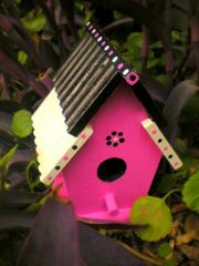 Pink, Black and White Bird House from the Alyssa
