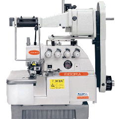 OVERLOCK SEWING MACHINE WITH ELASTIC-LACE