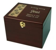 Paw Print Memorial Chest