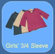 Girls' 3/4 Sleeve