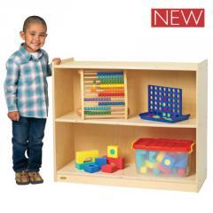 Stationary 2-Shelf Storage Furniture