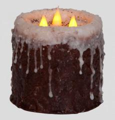 3 Wick Log Cabin Candle