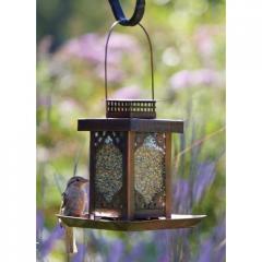 Ornate Tin Bird Feeder Tin, Glass Bangladesh