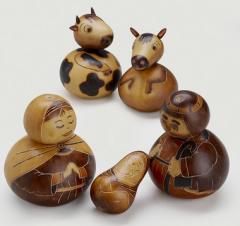 Peruvian Gourd Nativity Peru