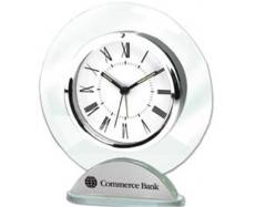 Silver & Glass Alarm Clock