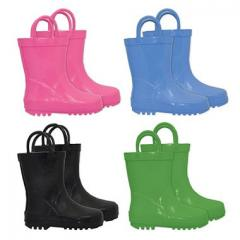 Solid Rubber Rain Boots