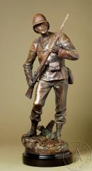 Bronze figurines Aux Colonies by Emile Guillemin