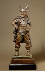 Heroic bronze Viking Warrior by A. Santini