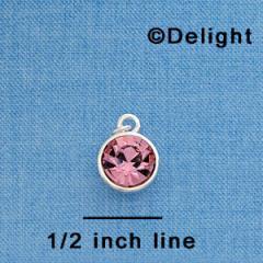 10mm Pink Light Rose Oktant Crystal Drop