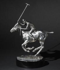 Stainless Steel Sculptures Polo Player by Rene