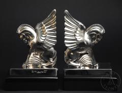 Pegasus Bookends (stainless steel) by G.H. Laurent