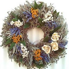 Herbal White Rose Wreath